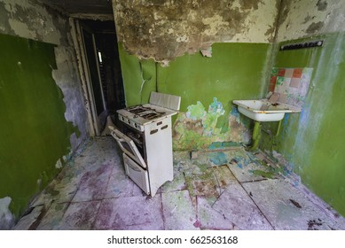 Flat in abandoned military town called Chernobyl-2 in Chernobyl Exclusion Zone, Ukraine