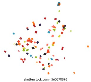 Flat design element.Abstract colorful explosion of confetti   isolated on a white background.
