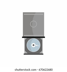 Flat dvd-rom icon for repair service design.  illustration