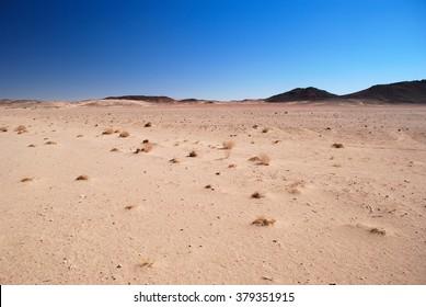 Flat empty Algeria desert