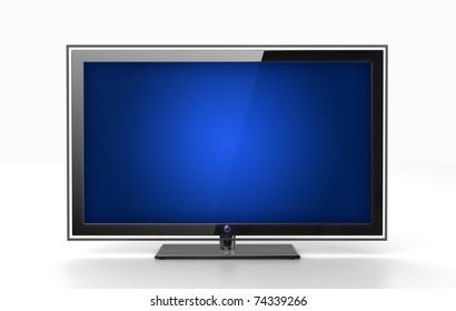 Flat HDTV screen