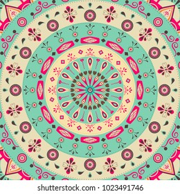 Flat illustration of a mandala inspired design pattern