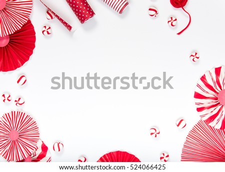 flat lay christmas party background candy stock photo edit now