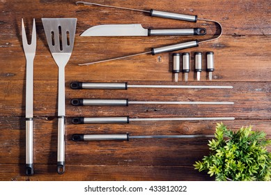 Flat Lay design of Barbecue Tools