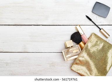 Flat lay for feminine website, blogger, social media