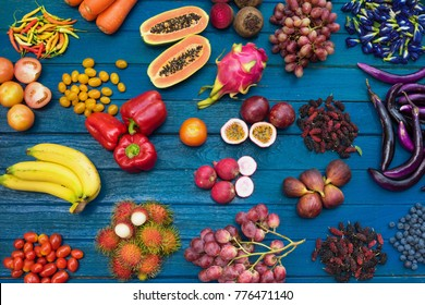 Fruits and vegetables images stock photos vectors shutterstock flat lay of fresh fruits and vegetables for background different fruits and vegetables for eating altavistaventures Choice Image
