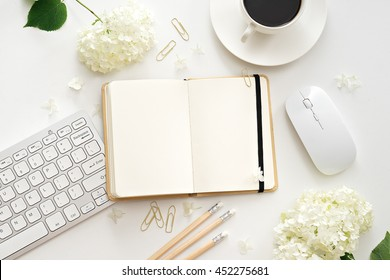 flat lay image of workplace