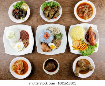 flat lay of malay traditional food
