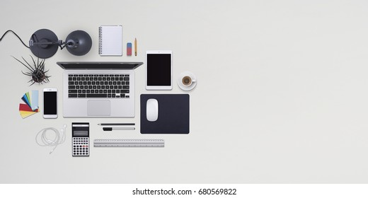 Flat lay office header