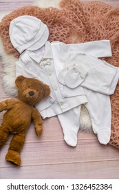 Flat lay photography of boy's smart outfits flay lay, top view