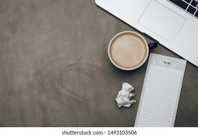 Flat lay photography to do list inspiration motivation coffee morning work laptop keyboard industrial busy business meeting