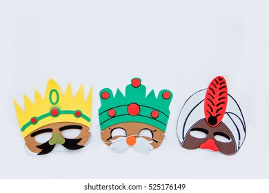 flat lay.Christmas concept.The three wise men. the three kings of orient