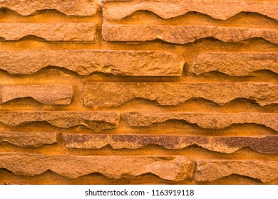Flat natural stone used in construction, architecture