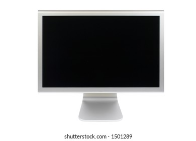 A flat panel lcd computer monitor isolated on white background