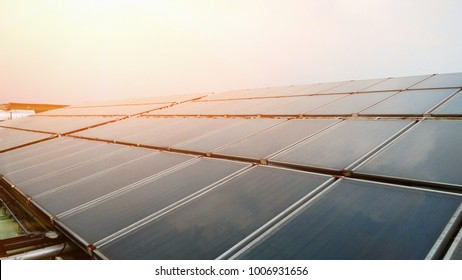 Flat plate solar thermal collectors in Hospital