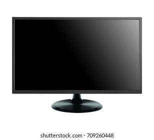 Flat screen lcd isolated on white background