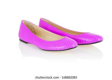 Flat shoes isolated on white