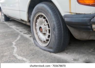 Flat tire blur