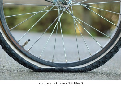 A flat tire , Puncture
