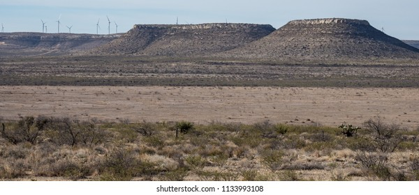 Flat Top Mountains alongside I-10