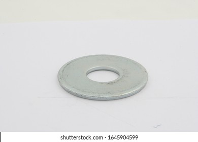 flat washers for fasteners, on a white background