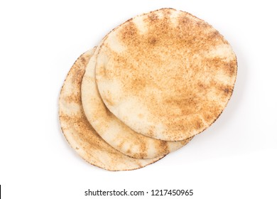 Flatbreads. Arab Bread isolated on white background