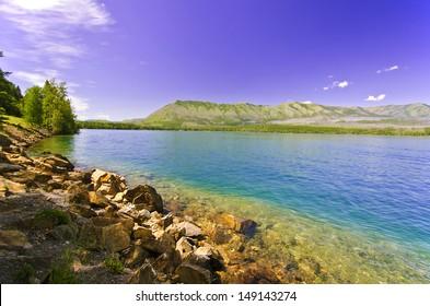 Flathead lake at Montana