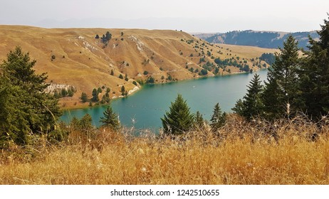 Flathead River above Kerr Dam, Montana, USA
