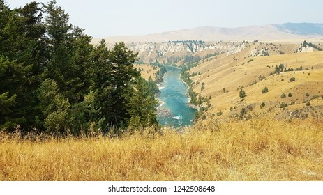 Flathead River below Kerr Dam, Montana, USA