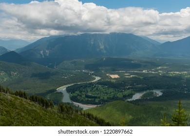 Flathead River Winding Through Valley in Montana