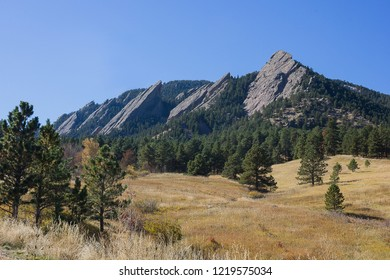 The Flatirons in Chataqua Park Boulder Colorado