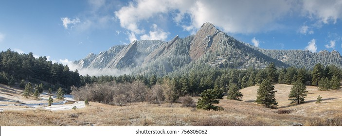 Flatirons Rock Formations at Chatauqua Park in Boulder, Colorado
