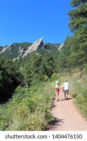 The Flatirons : rock formations at Chautauqua Park near Boulder - Colorado