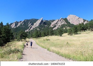 The Flatirons : rock formations at Chautauqua Park near Boulder - Colorado