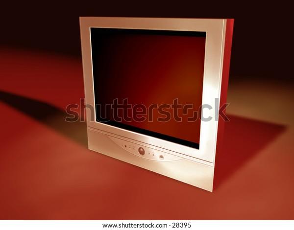 A flatscreen tv I created in Cinema 4D.