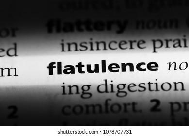 flatulence word in a dictionary. flatulence concept