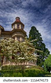 Flavel House museum in Astoria Oregon