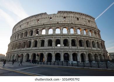 Flavian Amphitheatre aka the Colosseum in Rome, Italy