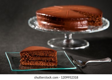 flavored cakes with spoon