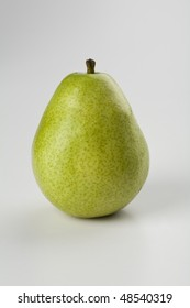 A Flawless Anjou Pear Isolated on White