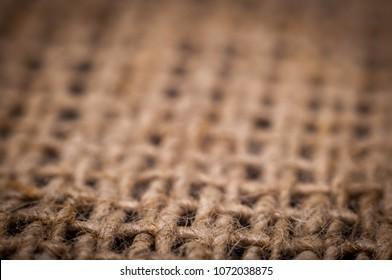 Flax fiber, linen fabric, raw material, cloth bags, linen yarn, filament. Grunge texture
