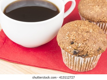 Flax muffins and coffee