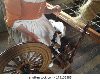 Flax Ready to Be Woven Into Linen in Revolutionary War Times