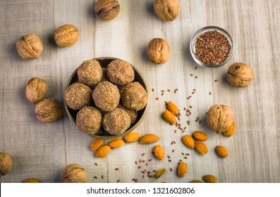 Flax seeds pinni - Pinni is a type of Punjabi and North Indian cuisine dish that is eaten mostly in winters. Pinni is also a general term for desserts or sweets prepared in a round shape.