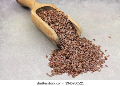 flax seeds in a spoon