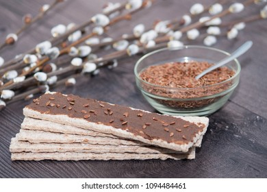 Flax seeds urbech - raw vegan diet. Traditional Dagestani paste. Superfood, healthy snack.