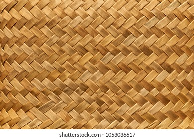 Flax weaving background: mat woven with Maori takitahi weave - New Zealand