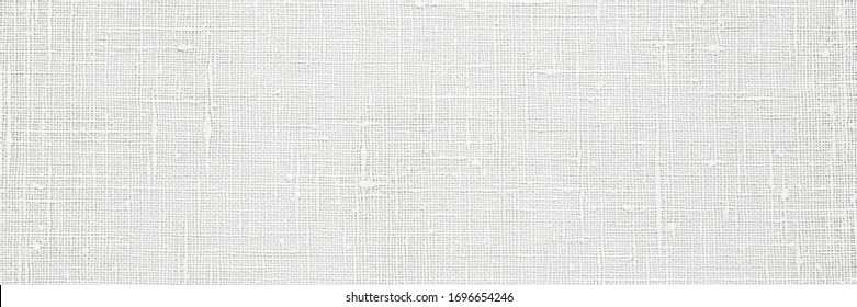 Flax white cloth texture. Linen fabric surface as Easter tablecloth background, banner - Shutterstock ID 1696654246