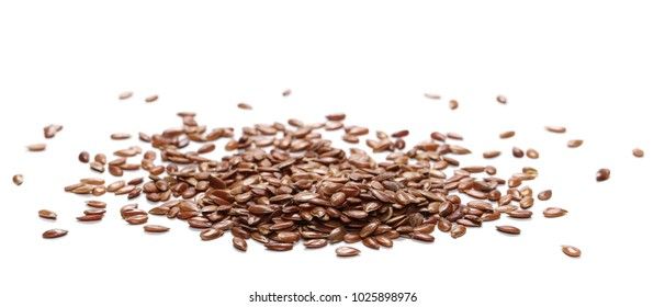 Flaxseed, linseed isolated on white background