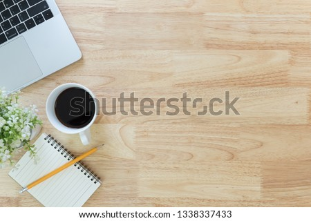 Flay Lay Top View Office Table Stock Photo (Edit Now
